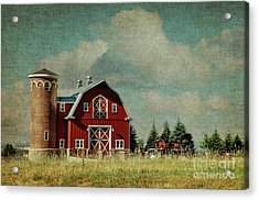 Greenbluff Barn Acrylic Print by Beve Brown-Clark Photography