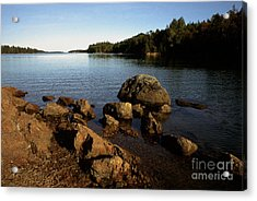 Greenlaw Cove Deer Isle Maine Acrylic Print by Thomas R Fletcher