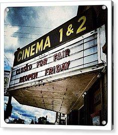 Greenville Cinema Acrylic Print
