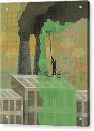 Greenwashing Acrylic Print by Dennis Wunsch