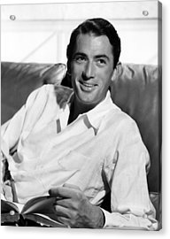 Gregory Peck In The Late 1940s Acrylic Print by Everett