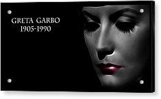 Greta Garbo 1905 1990 Acrylic Print by Steve K