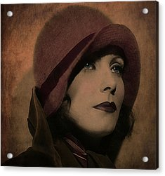 Greta Garbo Acrylic Print by Marie  Gale