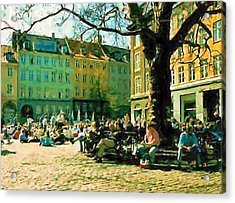 Grey Brothers Square I Acrylic Print by Asbjorn Lonvig