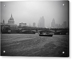 Acrylic Print featuring the photograph Grey London by Lenny Carter