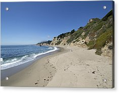 Greyhound Rock State Beach Panorama - Santa Cruz - California Acrylic Print by Brendan Reals