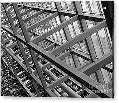 Grid Iron Acrylic Print by Kimberley Bennett