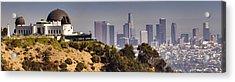 Griffith And Los Angeles Acrylic Print by Ricky Barnard