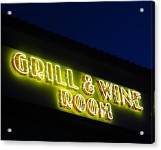 Grill And Wine Acrylic Print by Christopher Kerby