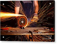Grinder In Action Acrylic Print by Gualtiero Boffi