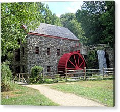 Grist Mill  Massachusetts Acrylic Print by Patricia Urato