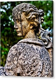 Gritty Profile Acrylic Print by Christopher Holmes