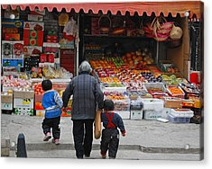 Grocery Day Acrylic Print