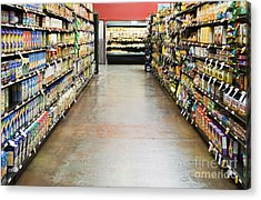 Grocery Store Isle Acrylic Print by Andersen Ross