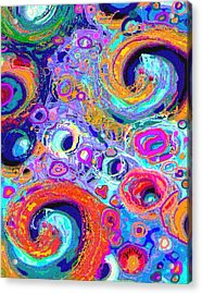 Groovy Acrylic Print by Paintings by Gretzky