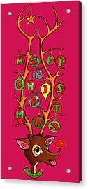 Groovy Rudolph Acrylic Print