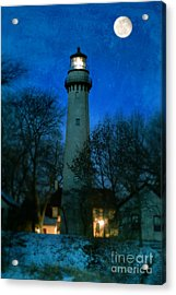 Grosse Point Lighthouse Before Dawn Acrylic Print by Jill Battaglia