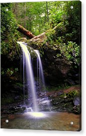 Grotto Falls Acrylic Print by Frozen in Time Fine Art Photography