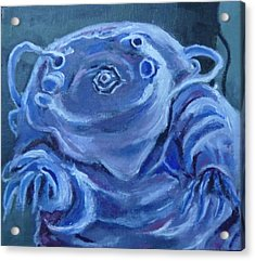 Acrylic Print featuring the painting Ground Control To Major Tardigrade by Jessmyne Stephenson