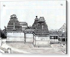 Group Of Jain Temples Hampi Acrylic Print by Shashi Kumar