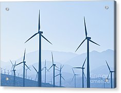 Group Of Wind Turbines Acrylic Print by Dave & Les Jacobs