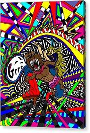 Grrr Acrylic Print by Karen Elzinga