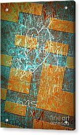 Grunge Background 6 Acrylic Print by Carlos Caetano