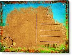 Grunge Color On Old Postcard Acrylic Print by Setsiri Silapasuwanchai