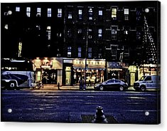 Grunge Street Acrylic Print by Robert Ponzoni