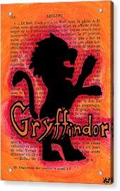 Gryffindor Lion Acrylic Print by Jera Sky