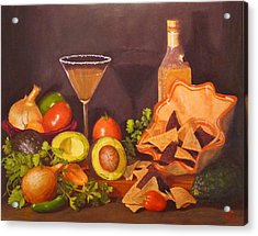 Acrylic Print featuring the painting Guacamole by Joe Bergholm