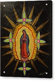 Guadalupe Acrylic Print by Manny Chapa