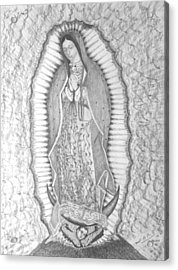 Guadalupe Acrylic Print by Miguel Rodriguez
