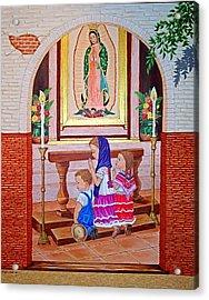 Guadalupe Y Ninos Acrylic Print