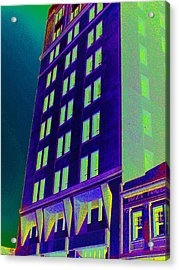 Acrylic Print featuring the photograph Guaranty Bank Building by Louis Nugent