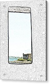 Guard Tower View Castillo San Felipe Del Morro San Juan Puerto Rico Colored Pencil Acrylic Print by Shawn O'Brien