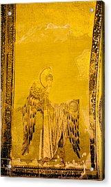 Guardian Angel Byzantine Art Acrylic Print by Artur Bogacki