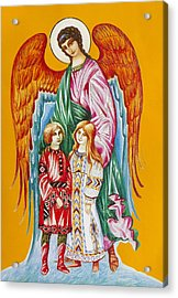 Guardian Angel For Children Acrylic Print