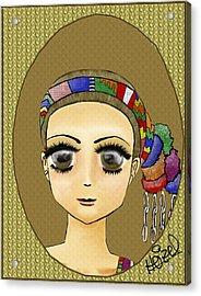 Guatemalan Costume Santo Tomas La Union Acrylic Print by Heizel Gonzalez