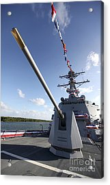 Guided-missile Destroyer Uss Jason Acrylic Print by Stocktrek Images