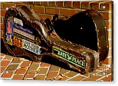 Acrylic Print featuring the photograph Guitar Case Messages by Lainie Wrightson