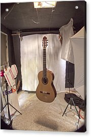 Guitar Acrylic Print by Larry Darnell