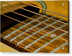 Guitar Strings Acrylic Print by C Ribet