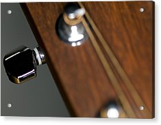 Guitar Tension Acrylic Print by C Ribet