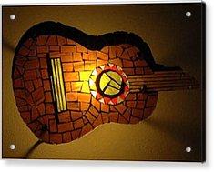 Guitarra Acrylic Print by Sonia Ruiz