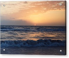 Acrylic Print featuring the photograph Gulf Coast Sunset by Lynnette Johns