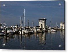 Gulfport Harbor Acrylic Print by Diane Carlisle
