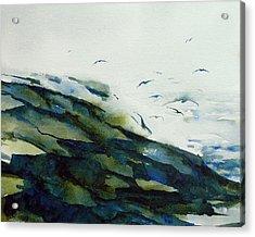 Gull Dance Acrylic Print