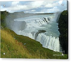 Acrylic Print featuring the photograph Gullfoss Waterfalls  Iceland by Louise Peardon