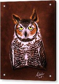 Gullie Acrylic Print by Adele Moscaritolo